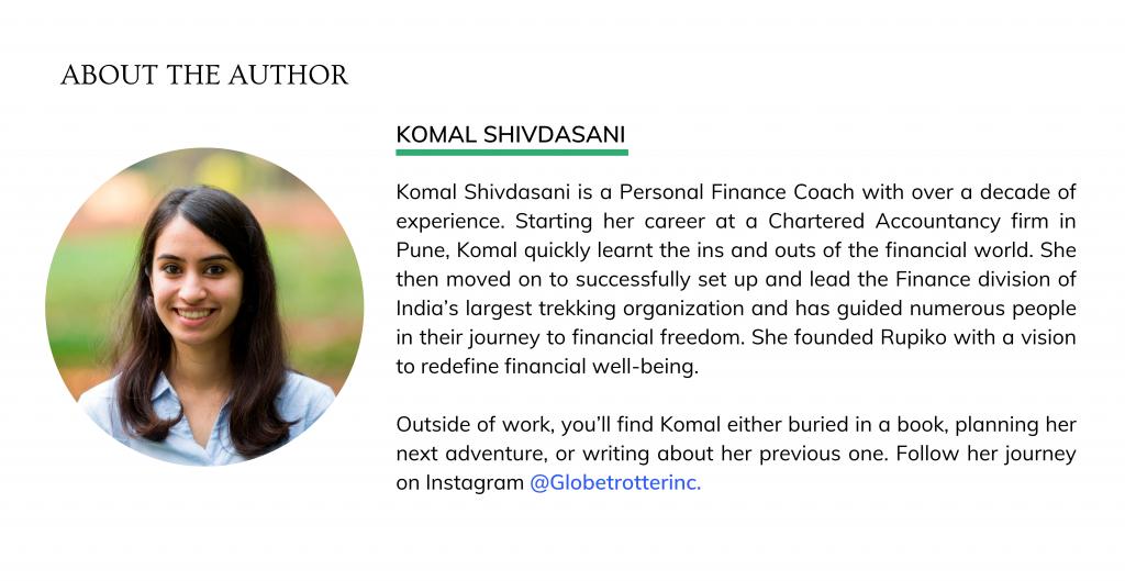 Author Bio - Komal Shivdasani