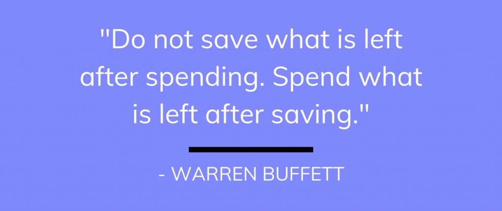 Warren Buffett on Saving
