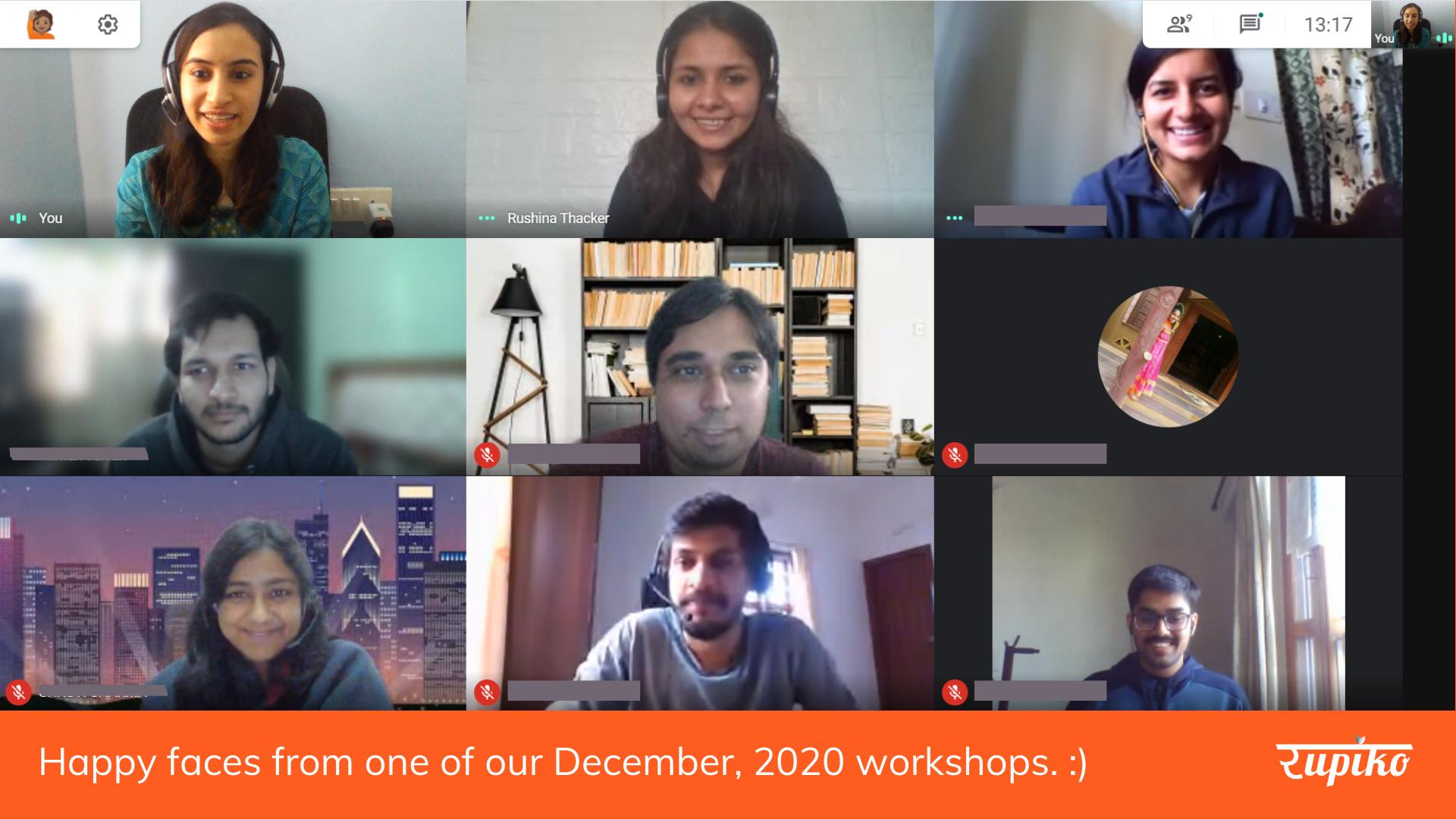 December Online Workshop